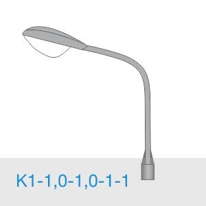 К1-1,0-1,0-1-1 - консольный однорожковый кронштейн