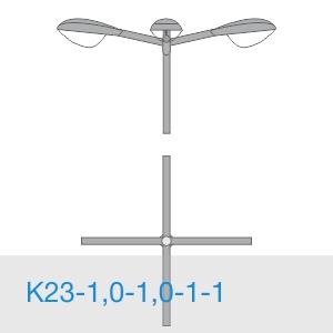 К23-1,0-1,0-1-1 консольный двухрожковый кронштейн