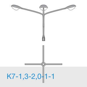 К7-1,3-2,0-1-1 консольный четырехрожковый кронштейн