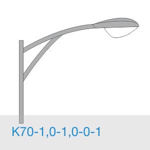 К70-1,0-1,0-0-1 консольный однорожковый кронштейн