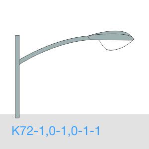 К72-1,0-1,0-1-1 консольный однорожковый кронштейн