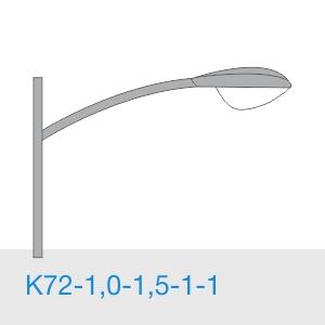 К72-1,0-1,5-1-1 консольный однорожковый кронштейн