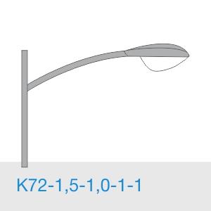 К72-1,5-1,0-1-1 консольный однорожковый кронштейн