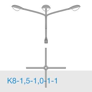 К8-1,5-1,0-1-1 консольный четырехрожковый кронштейн