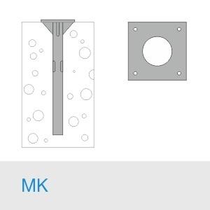 Фундамент МК 600(525)+М30×1000/10