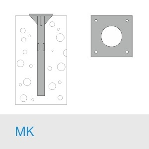 Фундамент МК 900(800)+М36×1500/20