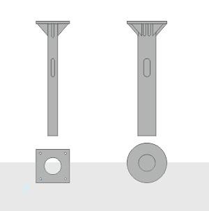 Закладной фундамент ЗФ-16/4/К140-1,0-б