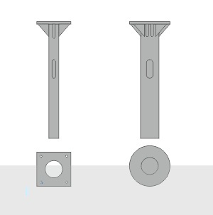Закладной фундамент ЗФ-36/12/Д620-3,5-б