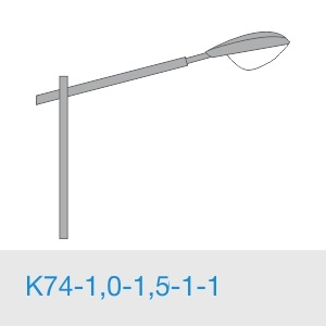 К74-1,0-1,5-1-1 кронштейн