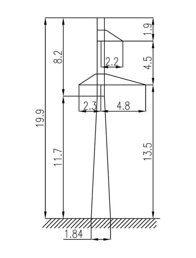 1П110-1-8.5 промежуточная опора