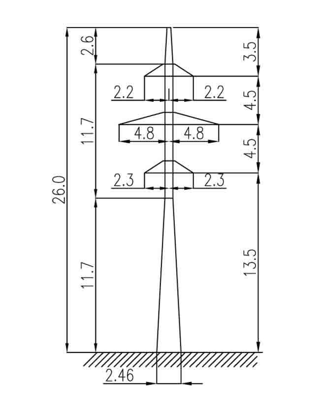 1П110-2-8.5 промежуточная опора