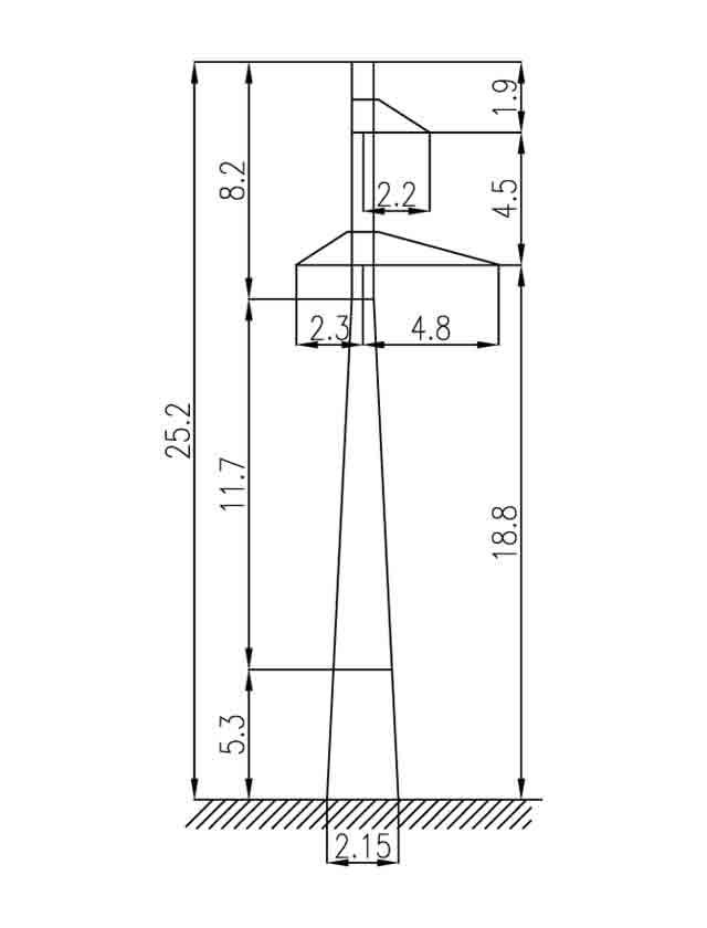 1П110-3-3.2 промежуточная опора