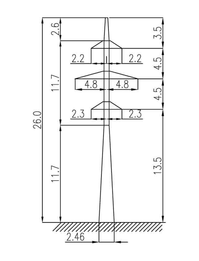 1П110-4-8.5 промежуточная опора