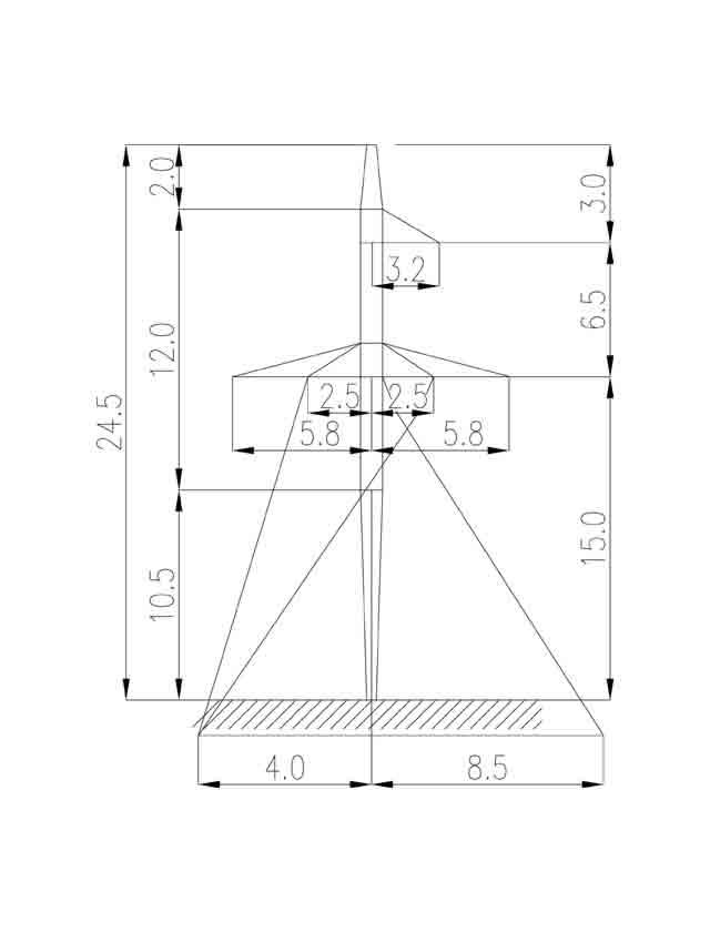 1П220-1-10.5 промежуточная опора