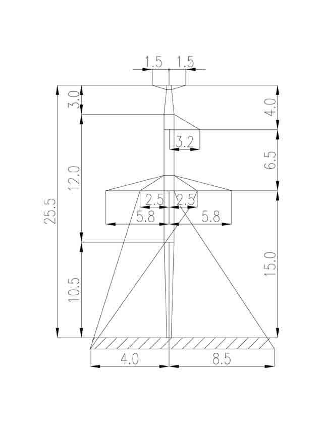 1П220-1Т-10.5 промежуточная опора