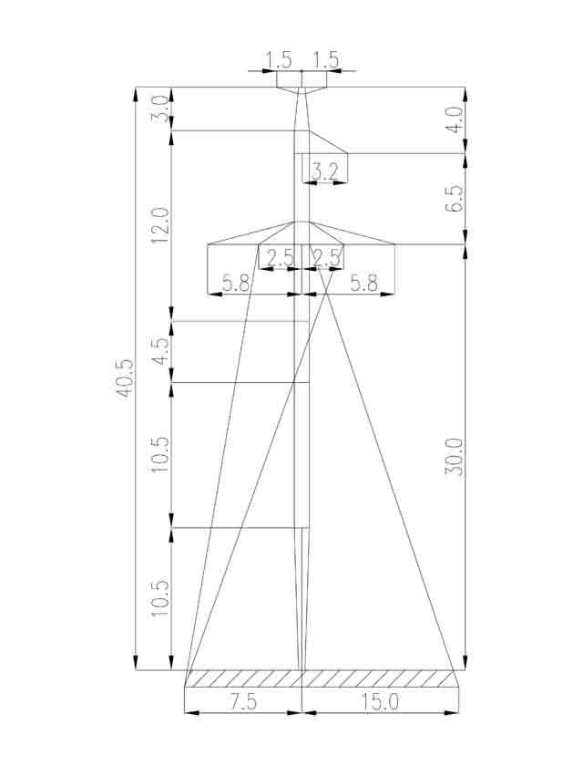 1П220-1Т+4.5 промежуточная опора