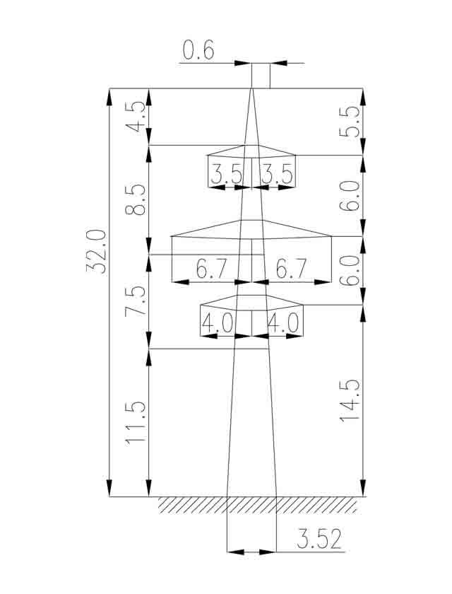 1П220-2-11.5 промежуточная опора