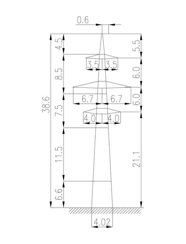 1П220-2-4.9 промежуточная опора