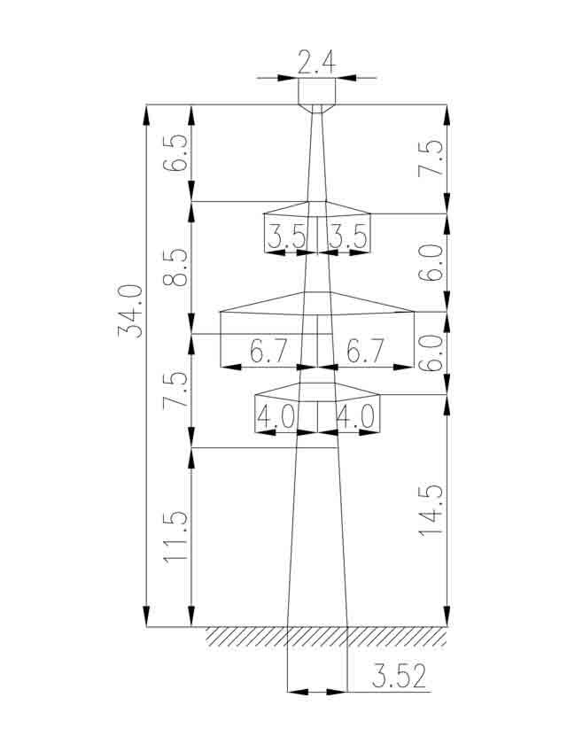 1П220-2Т-11.5 промежуточная опора