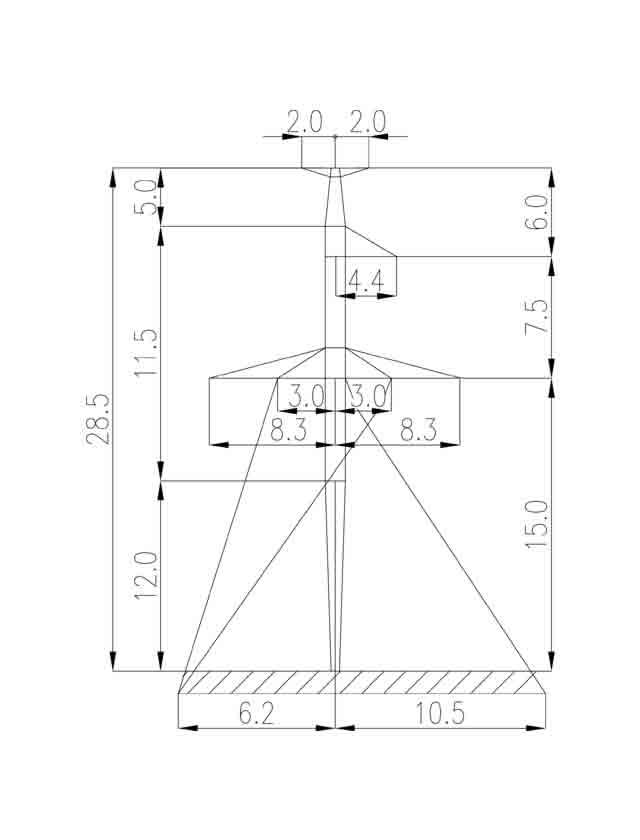 1П330-3Т-12.0 промежуточная опора