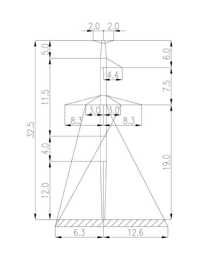 1П330-3Т-8.0 промежуточная опора