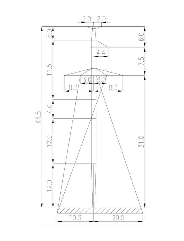 1П330-3Т+4.0 промежуточная опора