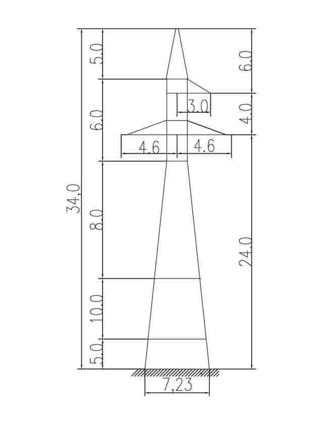 1У110-1+15 анкерная опора