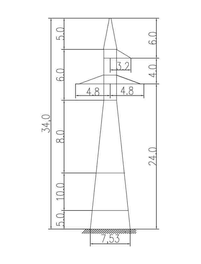 1У110-3+15 анкерная опора
