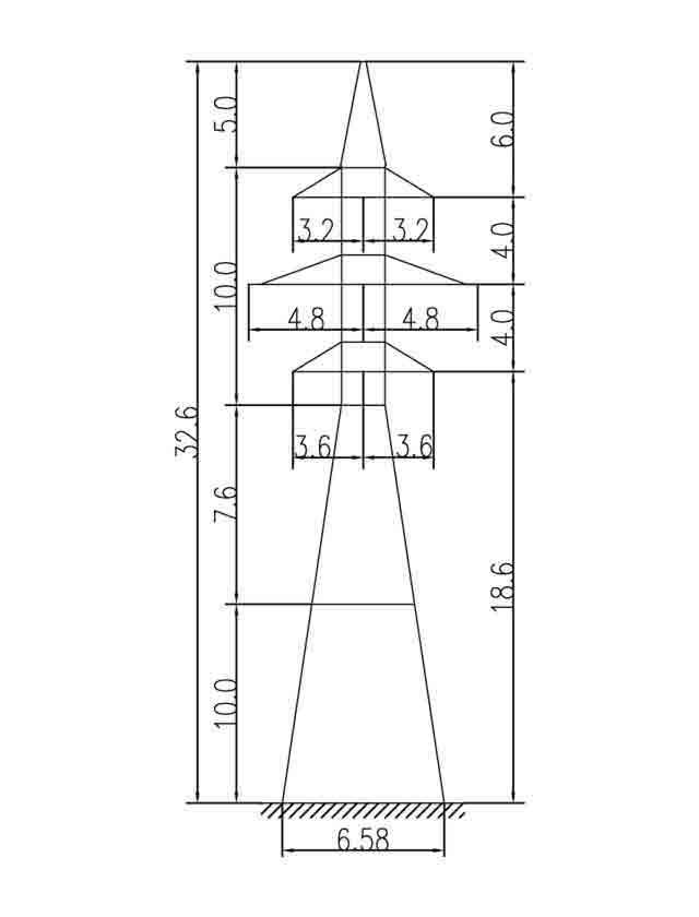 1У110-4+10 анкерная опора