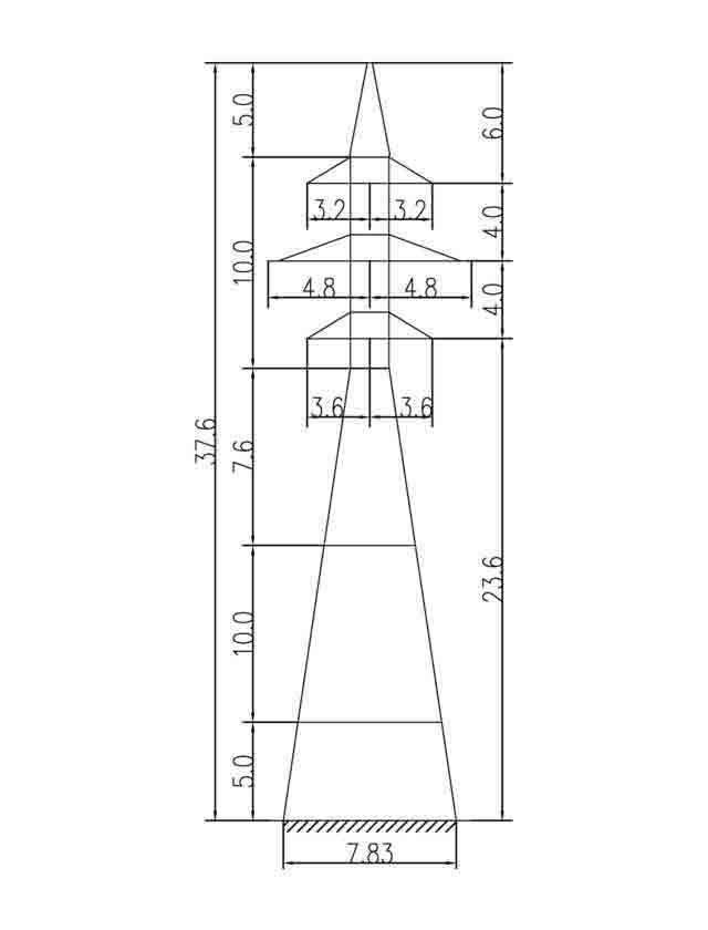 1У110-4+15 анкерная опора
