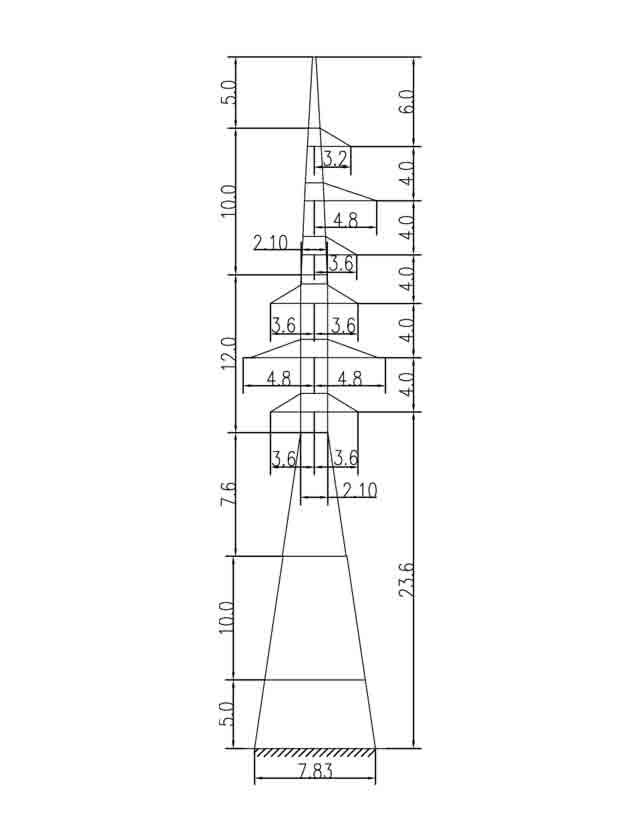 1У110-8+15 анкерная опора