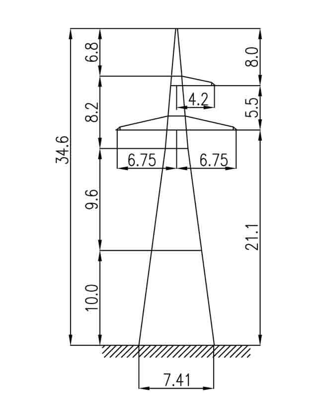 1У220-1+10 анкерная опора