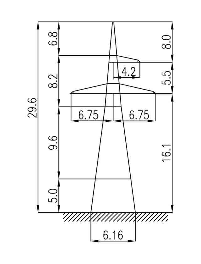 1У220-1+5 анкерная опора