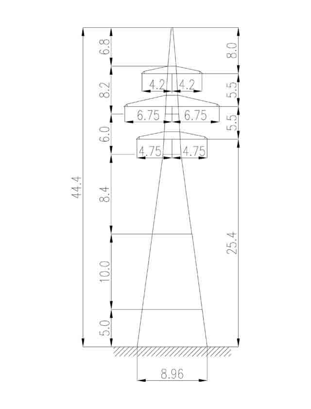 1У220-2+15 анкерная опора