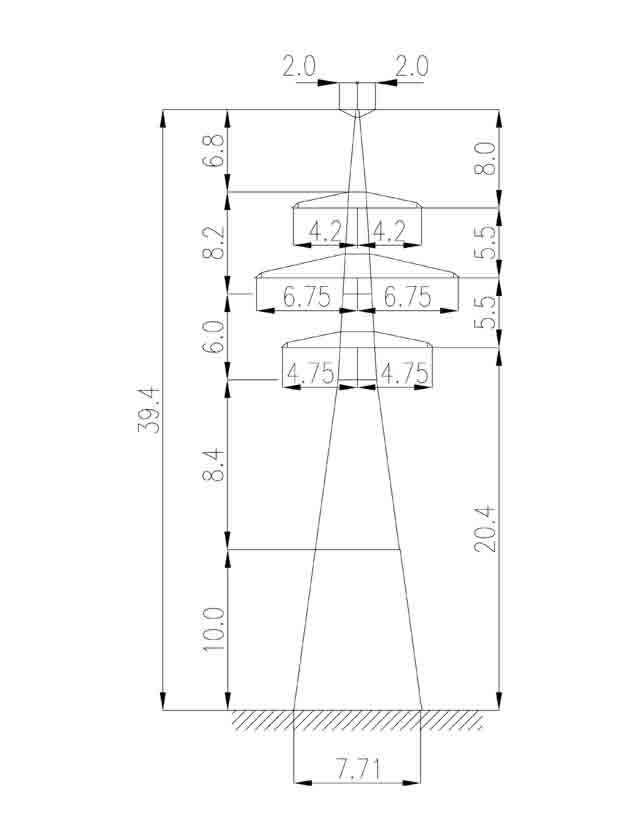 1У220-2Т+10 анкерная опора