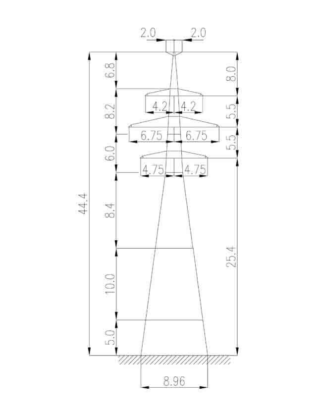 1У220-2Т+15 анкерная опора