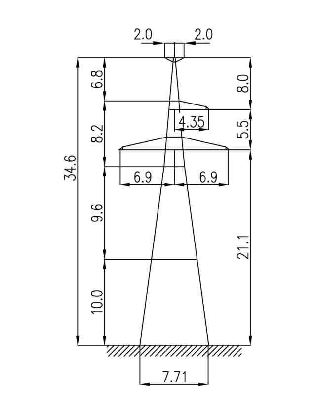 1У220-3Т+10 анкерная опора