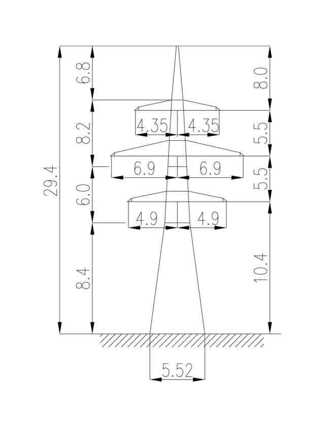 1У220-4 анкерная опора