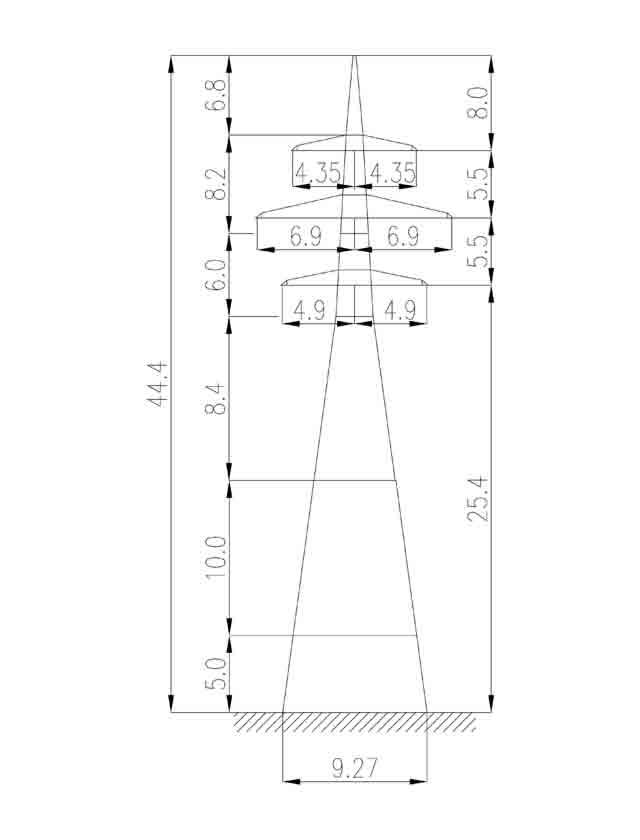 1У220-4+15 анкерная опора