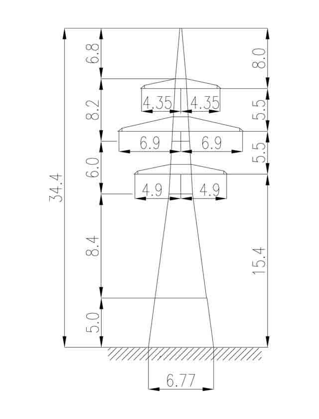 1У220-4+5 анкерная опора