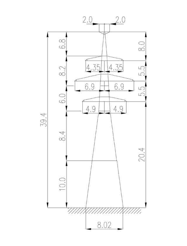 1У220-4Т+10 анкерная опора