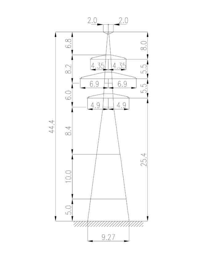1У220-4Т+15 анкерная опора