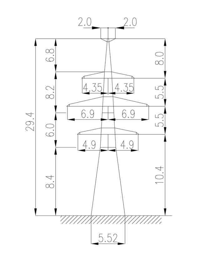 1У220-4Т+5 анкерная опора