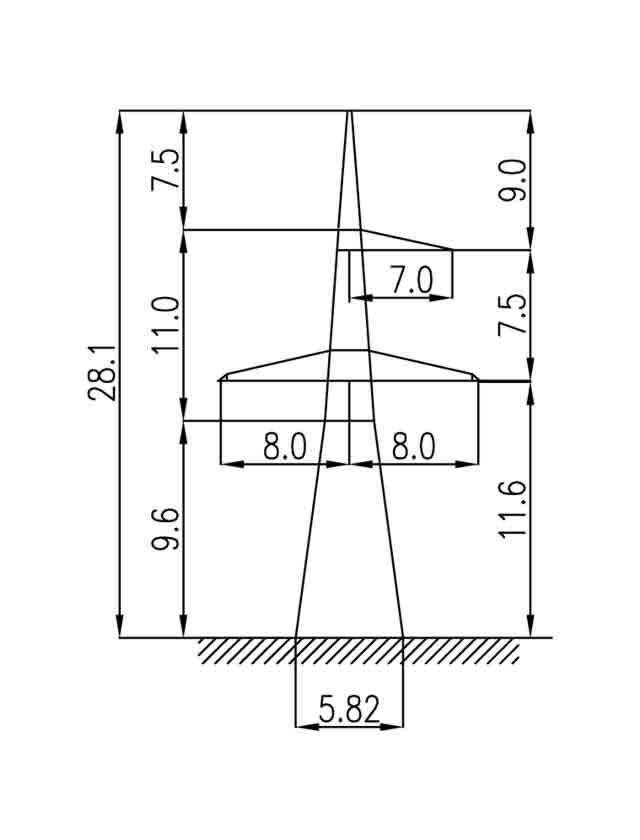 1У330-1 анкерная опора