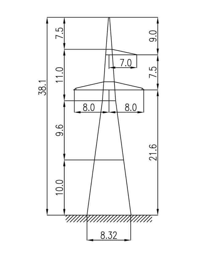1У330-1+10 анкерная опора