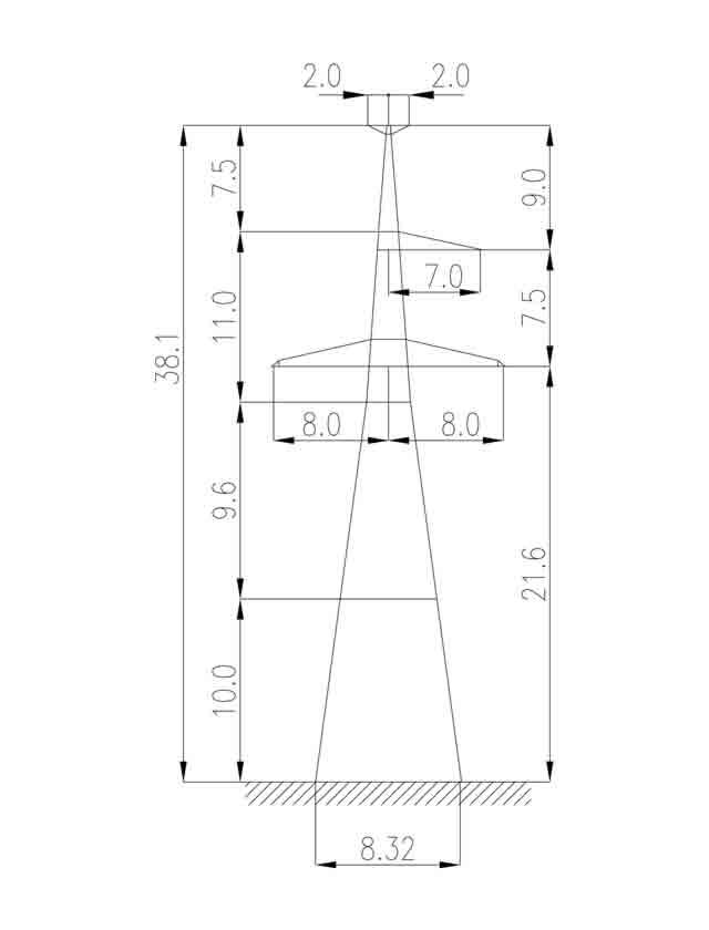 1У330-1Т+10 анкерная опора