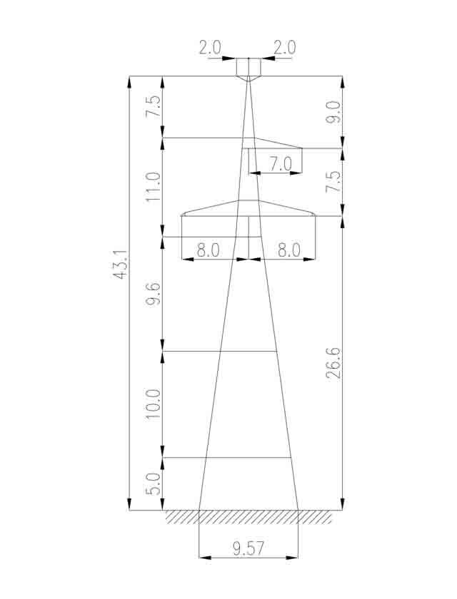 1У330-1Т+15 анкерная опора