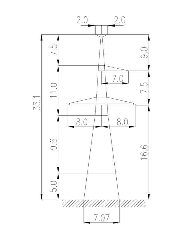 1У330-1Т+5 анкерная опора