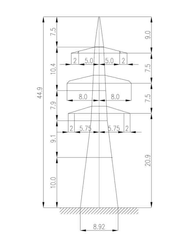 1У330-2+10 анкерная опора