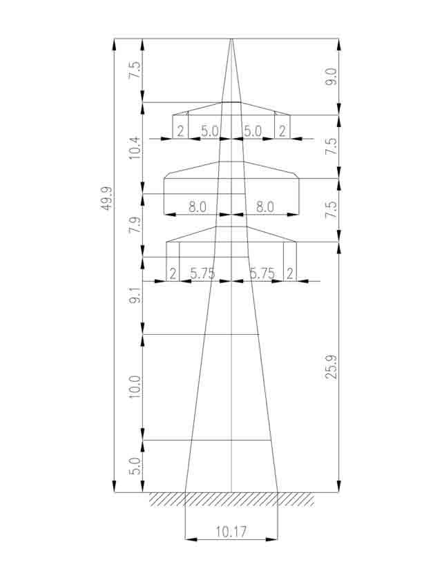 1У330-2+15 анкерная опора